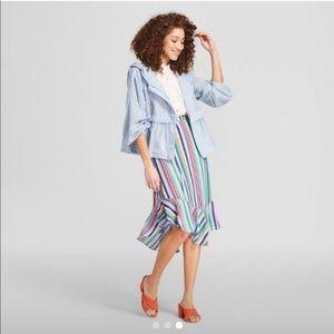 🎟A New Day Striped Handkerchief Hem Skirt